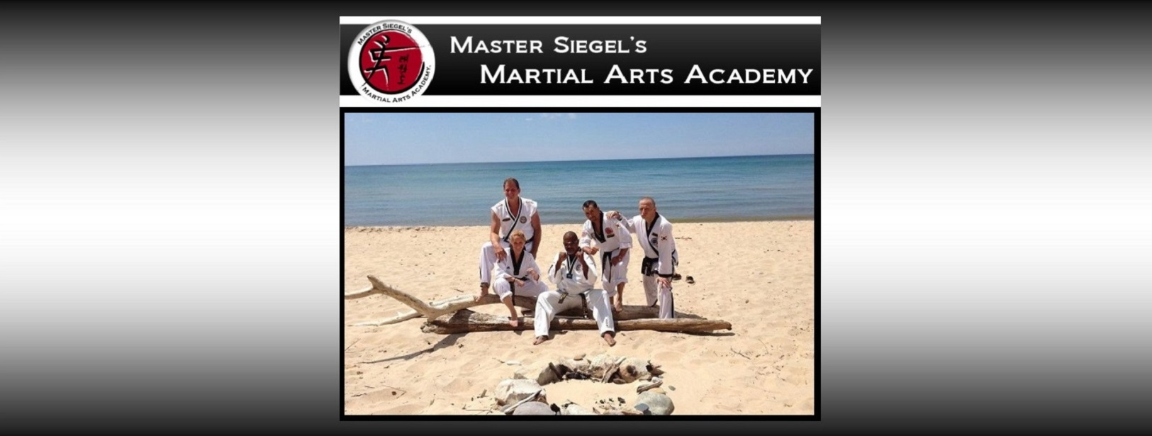 Black belt beachside training